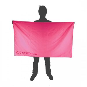 LifeVenture SoftFibre Pink Towel - Giant