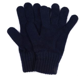 Barbour Lambswool Gloves - Blue