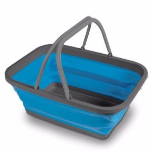 Kampa Collapsible Washing Bowl/Basket Large - Blue