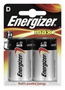 Energizer Max D Batteries (2 Pack)