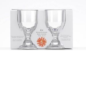 Flamefield Bella Goblet 4 Pack - Clear