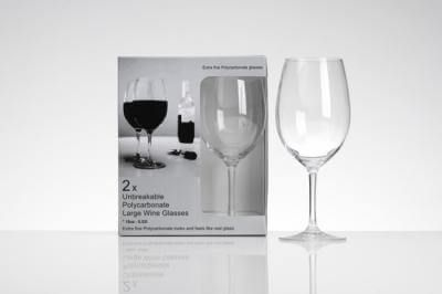 Flamefield Two Pack Wine Glasses 18oz