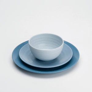 Flamefield Shades of Blue 12 piece Melamine Set
