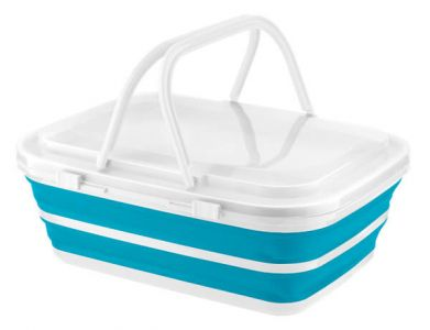 Quest Collapsible Deluxe Basket and Cooler - Blue