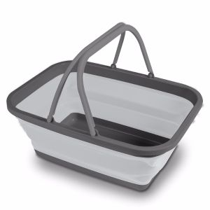 Kampa Collapsible Washing Bowl/Basket Large - Grey