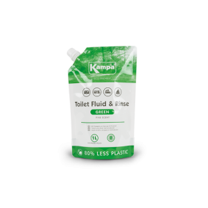 Kampa Eco Green Toilet Fluid & Rinse Pouch 1L - Pine