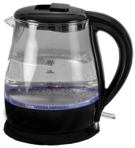 Quest  Light Up Glass Kettle 1L