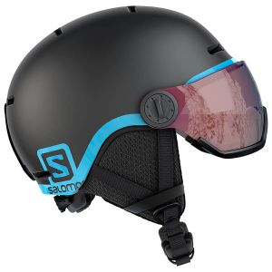Salomon Grom Visor Black Junior Ski Helmet 18-19