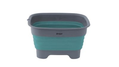Outwell Collaps Wash Bowl With Drain - Blue