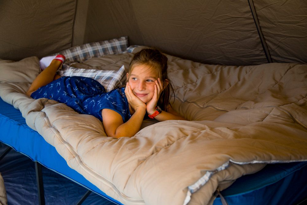 Camp beds for kids, and big kids