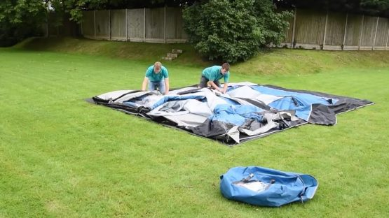 How to pack away your Inflatable Tent