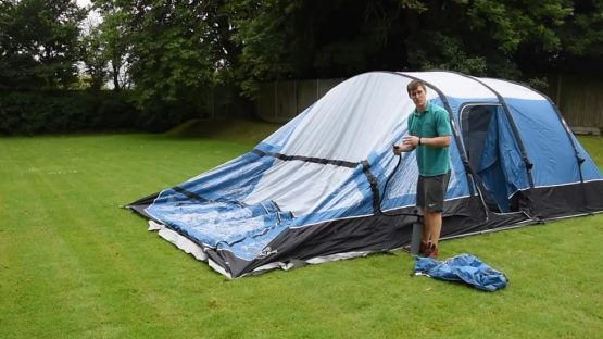 How to pitch an inflatable tent