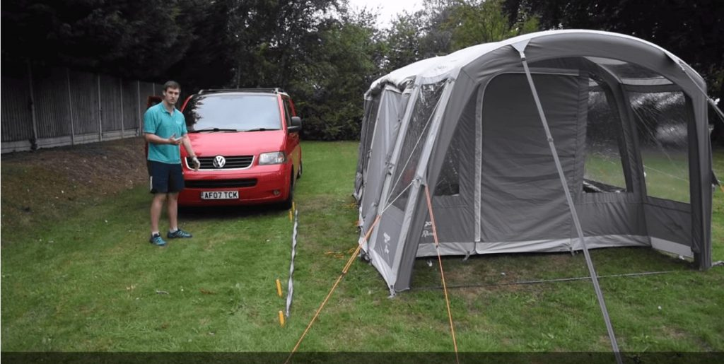 Driving away and connecting to a Driveaway Awning