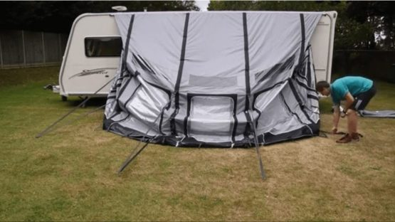 How to pack away an Inflatable Awning