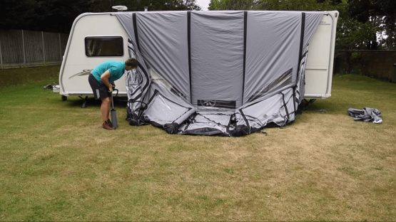 How to pitch an Inflatable Awning