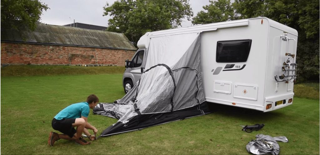How to pitch an Inflatable Driveway Awning